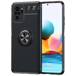 Funda Magnetica Soporte con Anillo Giratorio para Xiaomi Redmi Note 10 / 10S Negra