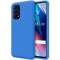 Funda Silicona Líquida Ultra Suave para Oppo Find X3 Lite 5G color Azul