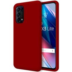 Funda Silicona Líquida Ultra Suave para Oppo Find X3 Lite 5G color Roja
