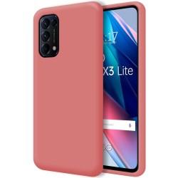 Funda Silicona Líquida Ultra Suave para Oppo Find X3 Lite 5G color Rosa