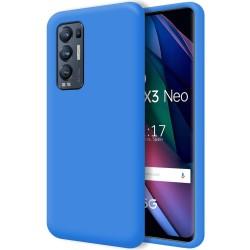 Funda Silicona Líquida Ultra Suave para Oppo Find X3 Neo 5G color Azul