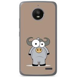 Funda Gel Tpu para Motorola Moto E4 Diseño Toro Dibujos