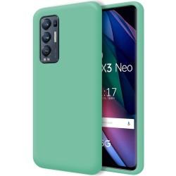 Funda Silicona Líquida Ultra Suave para Oppo Find X3 Neo 5G color Verde