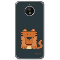 Funda Gel Tpu para Motorola Moto E4 Diseño Tigre Dibujos