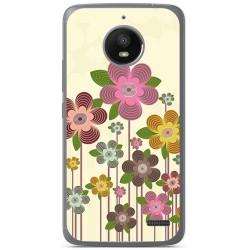 Funda Gel Tpu para Motorola Moto E4 Diseño Primavera En Flor  Dibujos