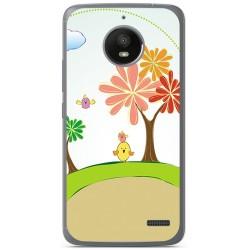 Funda Gel Tpu para Motorola Moto E4 Diseño Primavera Dibujos