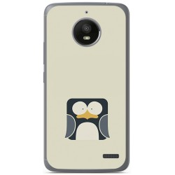 Funda Gel Tpu para Motorola Moto E4 Diseño Pingüino Dibujos