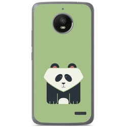 Funda Gel Tpu para Motorola Moto E4 Diseño Panda Dibujos