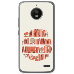 Funda Gel Tpu para Motorola Moto E4 Diseño Mundo Libro Dibujos