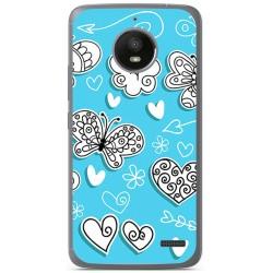 Funda Gel Tpu para Motorola Moto E4 Diseño Mariposas Dibujos