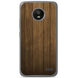 Funda Gel Tpu para Motorola Moto E4 Diseño Madera Dibujos