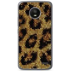 Funda Gel Tpu para Motorola Moto E4 Diseño Leopardo Dibujos