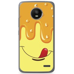 Funda Gel Tpu para Motorola Moto E4 Diseño Helado Vainilla Dibujos