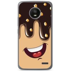 Funda Gel Tpu para Motorola Moto E4 Diseño Helado Chocolate Dibujos