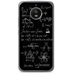Funda Gel Tpu para Motorola Moto E4 Diseño Formulas Dibujos
