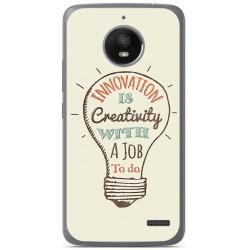 Funda Gel Tpu para Motorola Moto E4 Diseño Creativity Dibujos