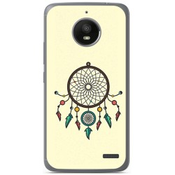 Funda Gel Tpu para Motorola Moto E4 Diseño Atrapasueños Dibujos