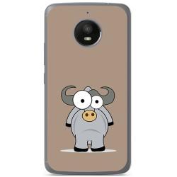 Funda Gel Tpu para Motorola Moto E4 Plus Diseño Toro Dibujos