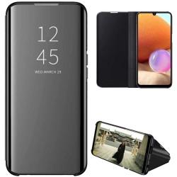 Funda Flip Cover Clear View para Samsung Galaxy A32 4G color Negra