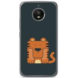Funda Gel Tpu para Motorola Moto E4 Plus Diseño Tigre Dibujos