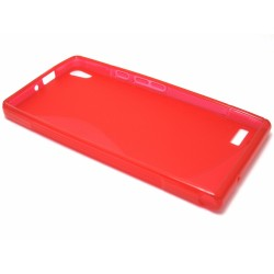 Funda Gel Tpu Huawei Ascend P6 S Line Color Roja