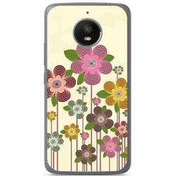Funda Gel Tpu para Motorola Moto E4 Plus Diseño Primavera En Flor  Dibujos