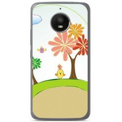 Funda Gel Tpu para Motorola Moto E4 Plus Diseño Primavera Dibujos