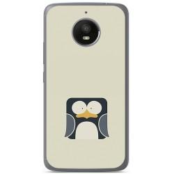 Funda Gel Tpu para Motorola Moto E4 Plus Diseño Pingüino Dibujos