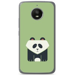 Funda Gel Tpu para Motorola Moto E4 Plus Diseño Panda Dibujos