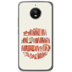 Funda Gel Tpu para Motorola Moto E4 Plus Diseño Mundo Libro Dibujos