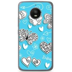 Funda Gel Tpu para Motorola Moto E4 Plus Diseño Mariposas Dibujos