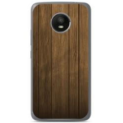 Funda Gel Tpu para Motorola Moto E4 Plus Diseño Madera Dibujos