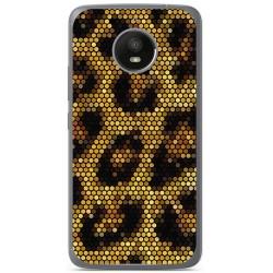 Funda Gel Tpu para Motorola Moto E4 Plus Diseño Leopardo Dibujos