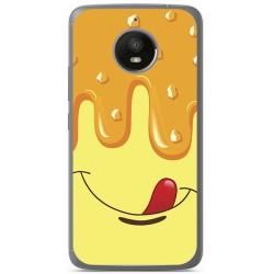 Funda Gel Tpu para Motorola Moto E4 Plus Diseño Helado Vainilla Dibujos