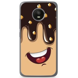 Funda Gel Tpu para Motorola Moto E4 Plus Diseño Helado Chocolate Dibujos