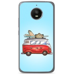 Funda Gel Tpu para Motorola Moto E4 Plus Diseño Furgoneta Dibujos