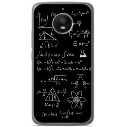 Funda Gel Tpu para Motorola Moto E4 Plus Diseño Formulas Dibujos
