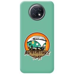 Funda Silicona Líquida Verde para Xiaomi Redmi Note 9T 5G diseño Adventure Time Dibujos