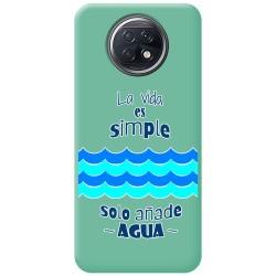 Funda Silicona Líquida Verde para Xiaomi Redmi Note 9T 5G diseño Agua Dibujos