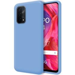 Funda Silicona Líquida Ultra Suave para Oppo A54 5G / A74 5G color Azul