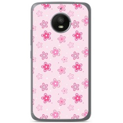 Funda Gel Tpu para Motorola Moto E4 Plus Diseño Flores Dibujos