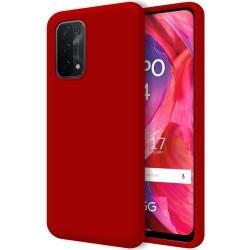 Funda Silicona Líquida Ultra Suave para Oppo A54 5G / A74 5G color Roja
