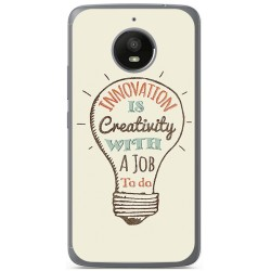 Funda Gel Tpu para Motorola Moto E4 Plus Diseño Creativity Dibujos