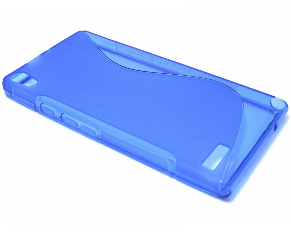 Funda Gel Tpu Huawei Ascend P6 S Line Color Azul