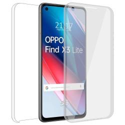 Funda Doble Transparente Pc + Tpu Full Body 360 para Oppo Find X3 Lite 5G