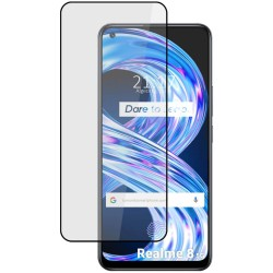 Protector Cristal Templado Completo 5D Full Glue Negro para Realme 8 5G Vidrio