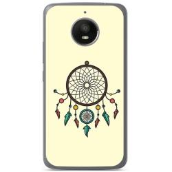 Funda Gel Tpu para Motorola Moto E4 Plus Diseño Atrapasueños Dibujos