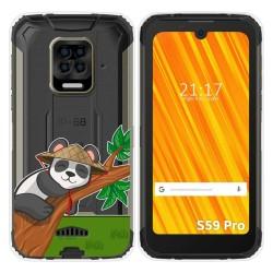 Funda Gel Transparente para Doogee S59 Pro diseño Panda Dibujos