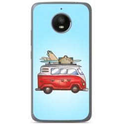 Funda Gel Tpu para Vodafone Smart N8 Diseño Furgoneta Dibujos