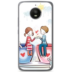 Funda Gel Tpu para Vodafone Smart N8 Diseño Cafe Dibujos